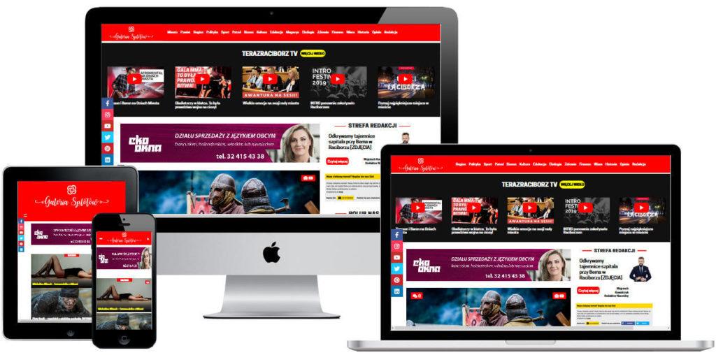 strona internetowa portalu internetowego teraz raciborz tv