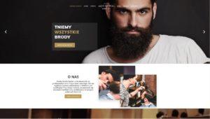 strona www dla salonu fryzjera barbera mysłowice męska strefa barber