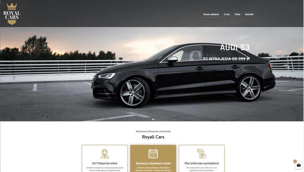 strona www profesjonalna dla wypożyczalni samochodów