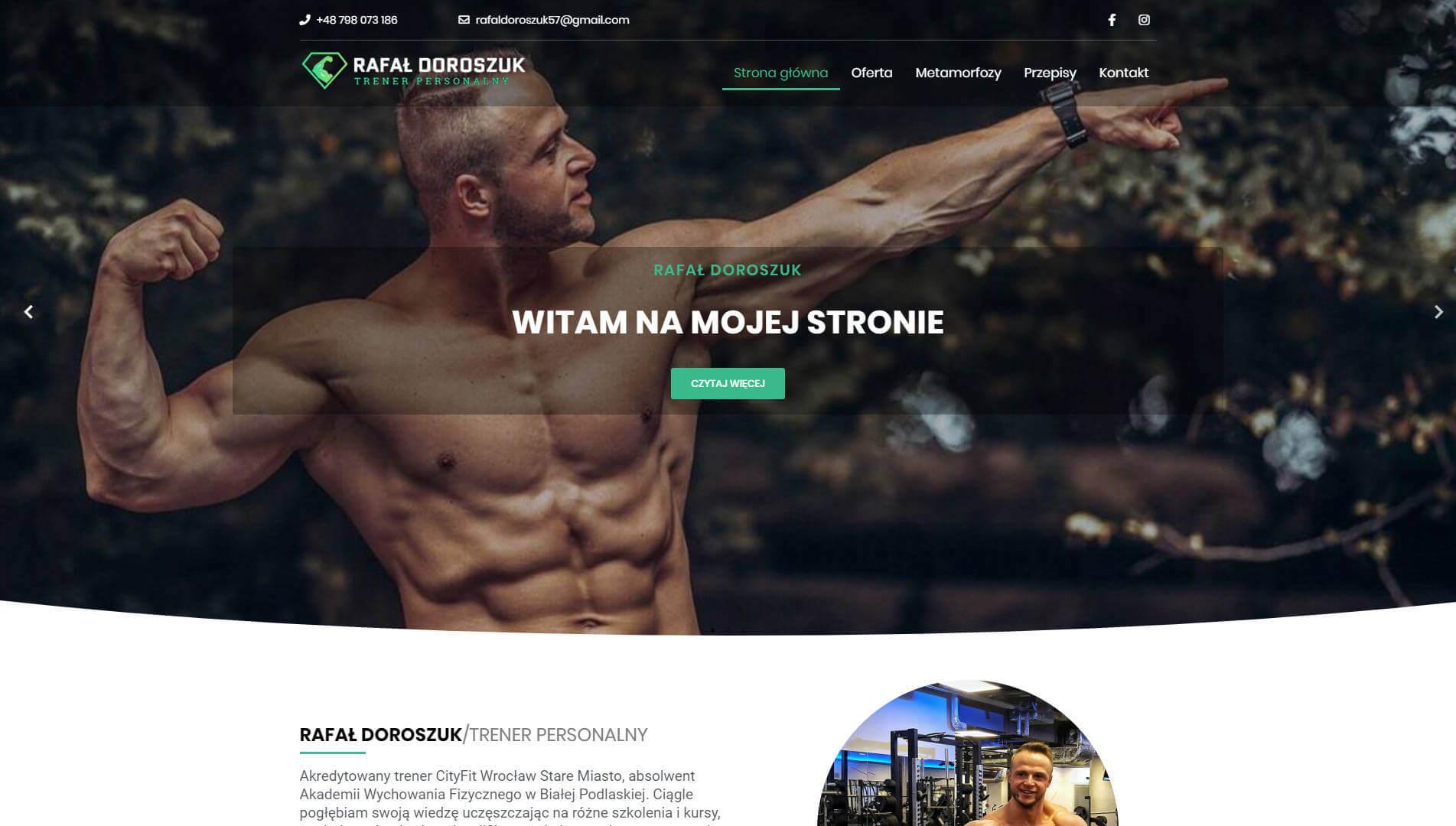 strona www trener personalny Rafał Doroszuk