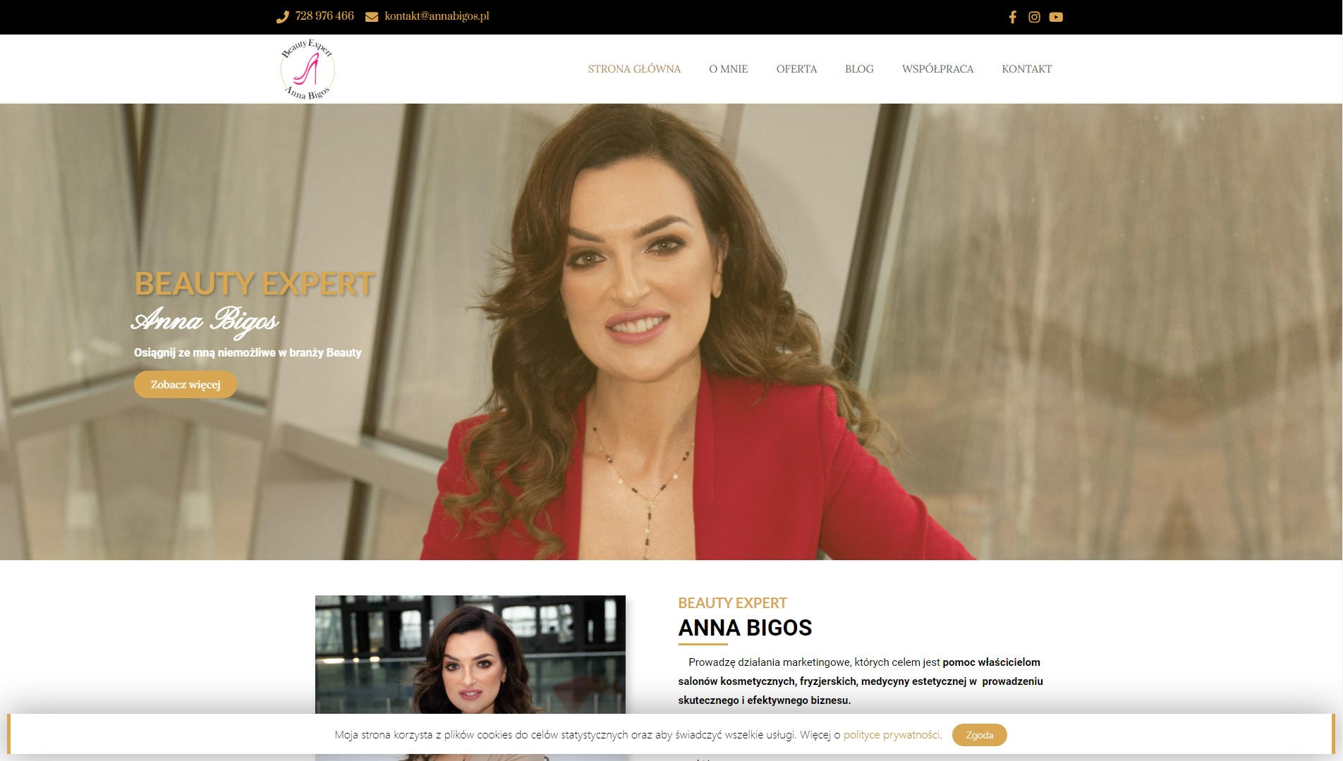 Anna Bigos - Beauty Expert - wsparcie dla salonów kosmetycznych