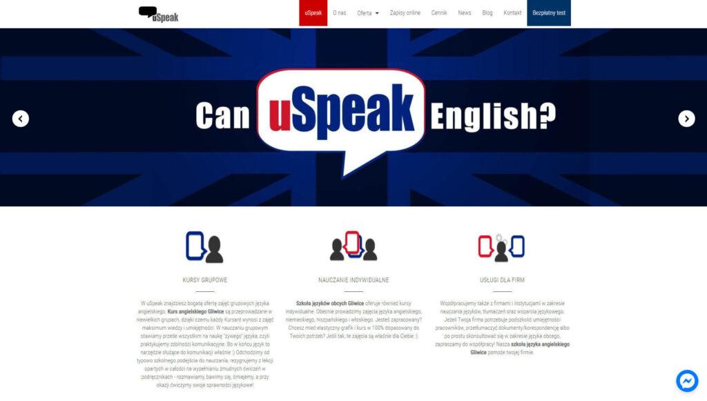 uspeak szkoła języków obcych gliwice